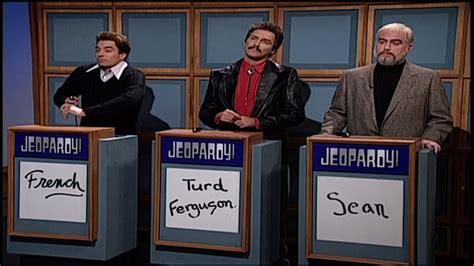 celebrity jeopardy sean connery and burt reynolds snl celebrity jeopardy french stewart burt reynolds and