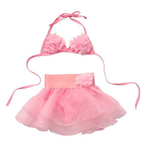 Kb Set Baby Pink 2pcs set baby summer sweet flowers swimwear