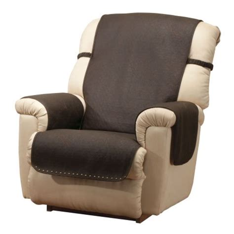 chair cover for recliner leather look recliner chair cover walmart com