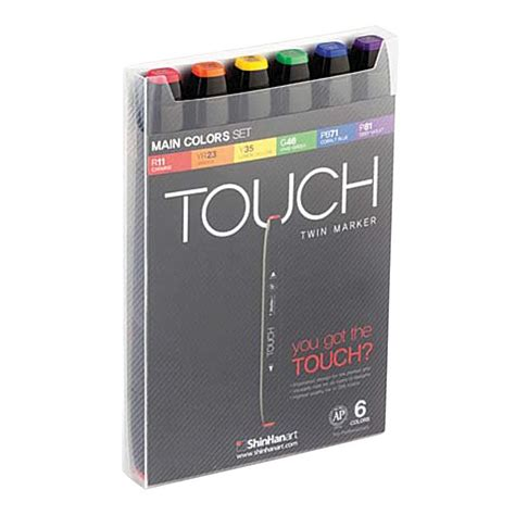 Shinhan Touch Marker Grey Color Set 6 shinhan 6 set colors touch markers 1100613