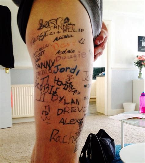 drunk tattoos tattooed almost 100 times by pals while