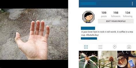 cara membuat gambar instagram di tangan foto ini cuma bermodal pose tangan dan screenshottilan