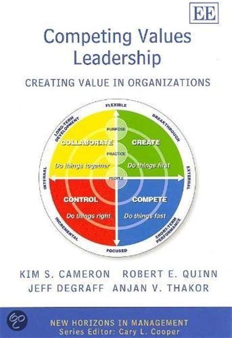 Competing Values Leadership bol competing values leadership s cameron robert e quinn 9781847204950