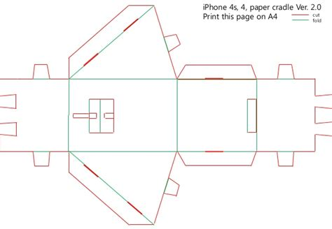 How To Make A Paper Slide Phone - paper smartphone cradle ver 2 0 for iphone 5 4s 4