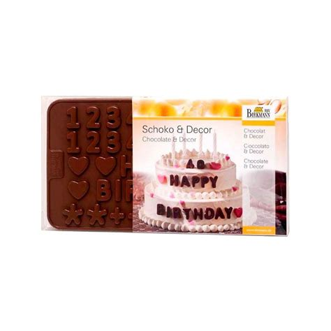 Letternumber Choc Mold silicone chocolate mold quot letters numbers quot birkmann