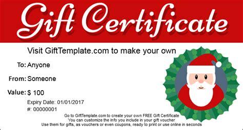 santa gift certificate template ubuntu corner make free gift certificates