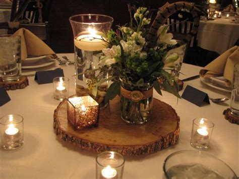 dinner table centerpieces rehearsal dinner decorations wood and birch wedding