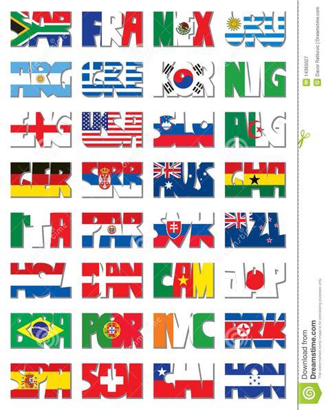 Release Letter National Code national 3 letter code flags royalty free stock