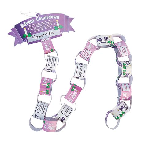 Paper Chain Craft - advent countdown paper chain craft kit decoration crafts