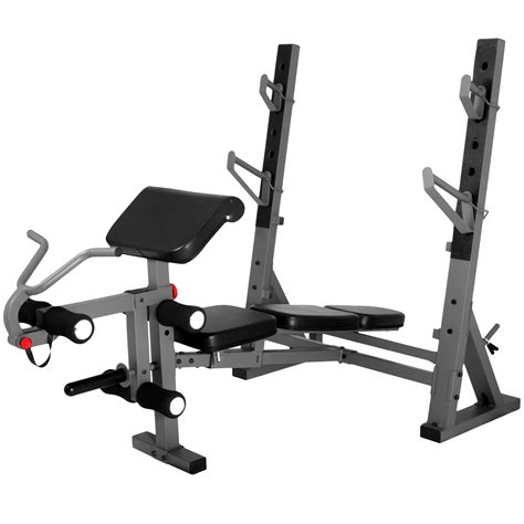 weight bench with preacher curl attachment the x mark international olympic weight bench with leg