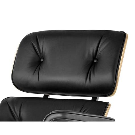 black leather chair and ottoman eames style lounge chair and ottoman black leather oak plywood