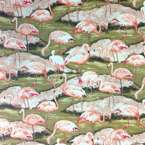 flamingo upholstery fabric tropical pink flamingo fabric by the yard 100 cotton