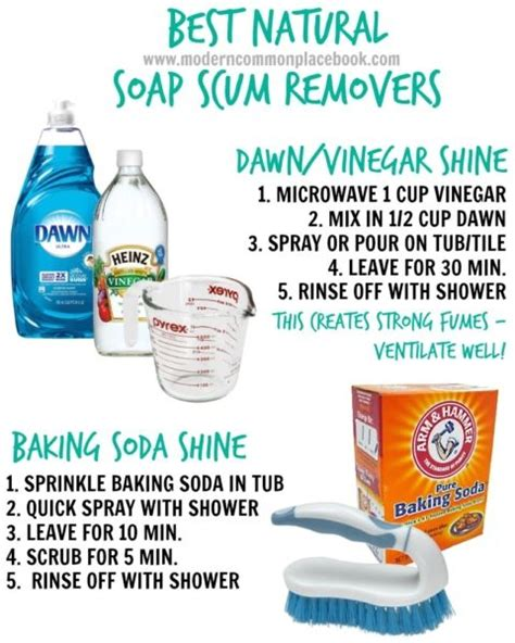 natural bathroom cleaner baking soda vinegar meer dan 1000 idee 235 n over soap scum op pinterest