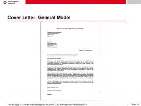 Cover Letter In German by Application In Germany Eng