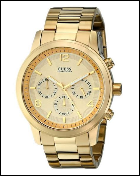 guess u15061g2 gold tone s chronograph