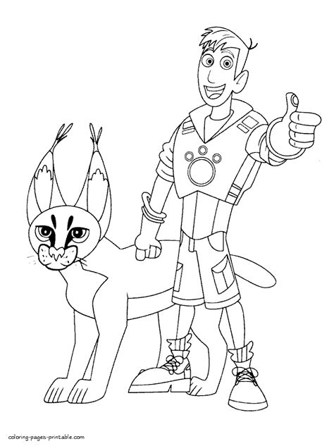 free coloring pages of wild kratts power discse