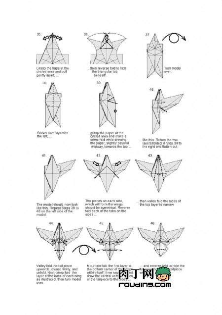 How To Make Paper Eagle - 1000 ideen zu origami eagle auf origami