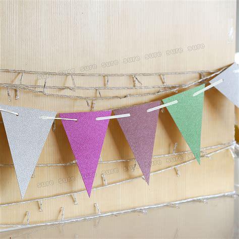 Handmade Bunting - handmade bunting banner shabby chic glitz paper flags