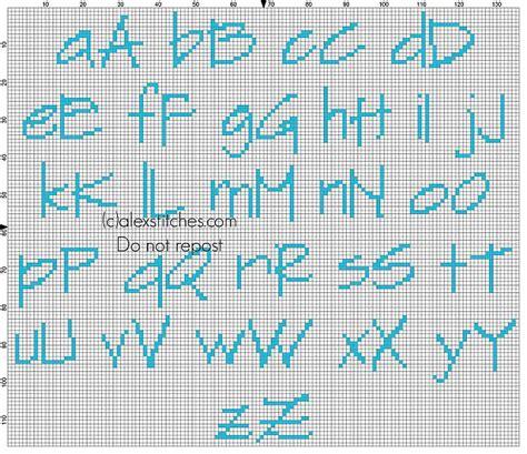 lettere punto croce da stare cross stitch baby light blue alphabet sketchflow print
