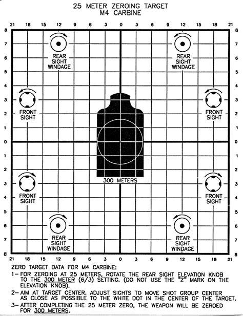 printable military zero targets m16 25 meter targets related keywords m16 25 meter