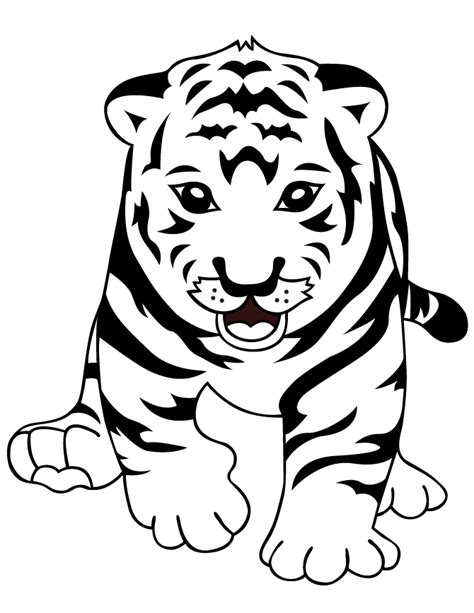 cute baby tiger coloring hm coloring pages