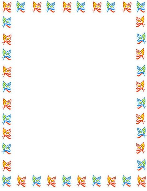 bordes de pagina colouring pages bordes decorativos bordes decorativos de mariposas para