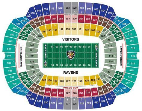 ravens seating ravens seating chart baltimore m t bank stadium seating info