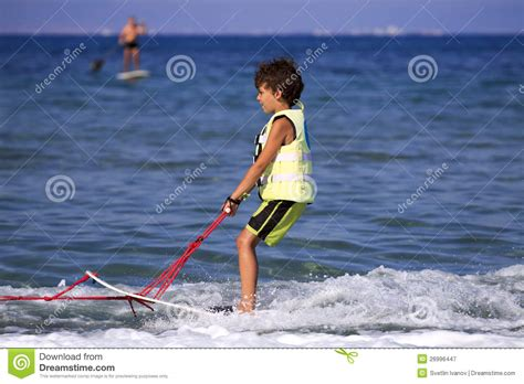 1 year water skiing children s water skiing royalty free stock photography