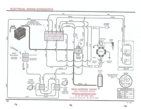kohler engine charging system diagram automotive parts