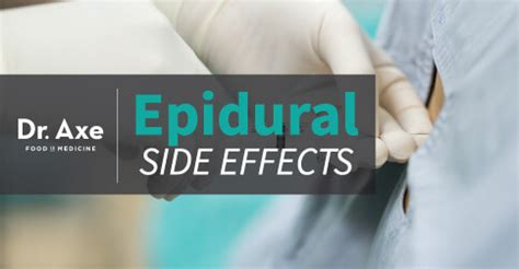 epidural side effects