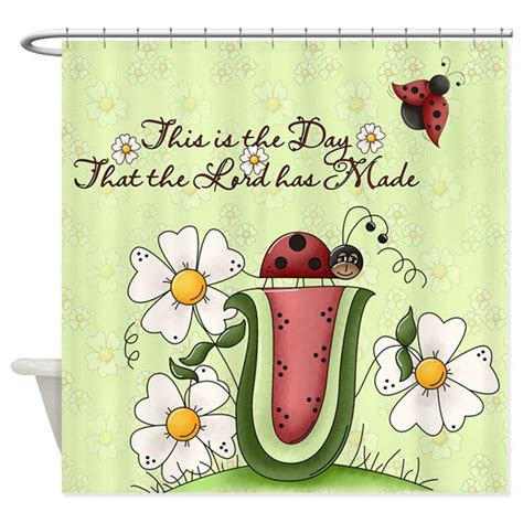 ladybug kitchen curtains ladybug shower curtain by gatterwe