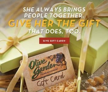 Where Are Olive Garden Gift Cards Redeemable - olive garden gift card promotion deals at joe s crab shack and more