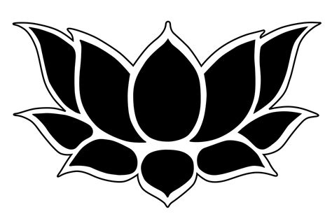 lotus flower template stencil lotus clipart best