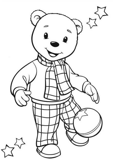 Rupert Bear Coloring Pages   rupert bear kicking football coloring pages rupert bear