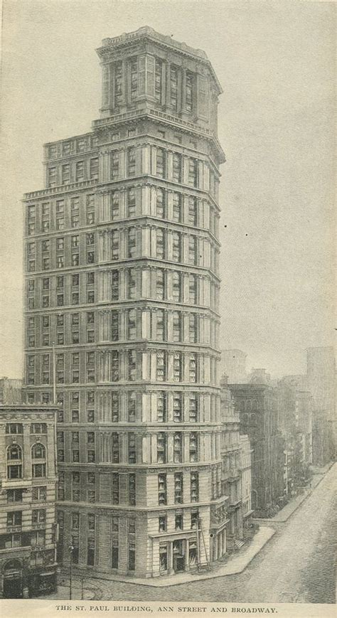 Paul Sheds by The Buildings Of New York Skyscrapers In 1898