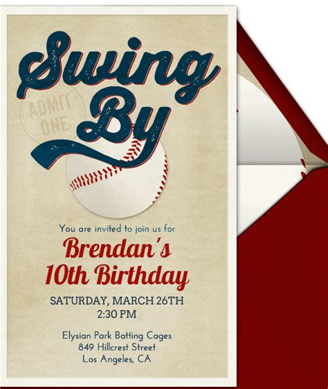 21 baseball birthday invitation templates free sle