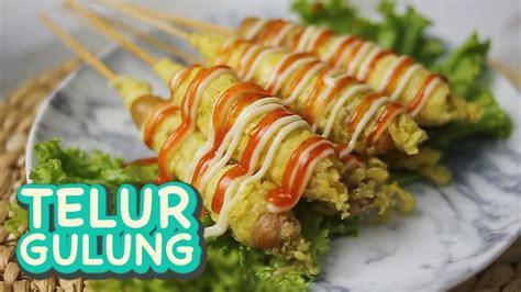 resep telur gulung sosis nugget street food
