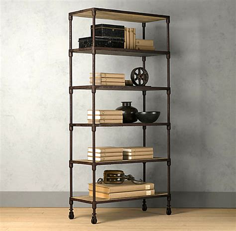 industrial bookcase with caster wheels png decoist