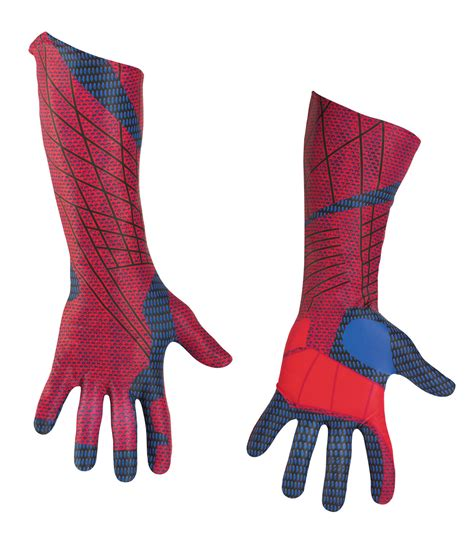spiderman glove pattern adult deluxe amazing spiderman gloves mr costumes