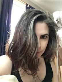 gray streak in hair the 25 best gray streaks ideas on pinterest grey hair