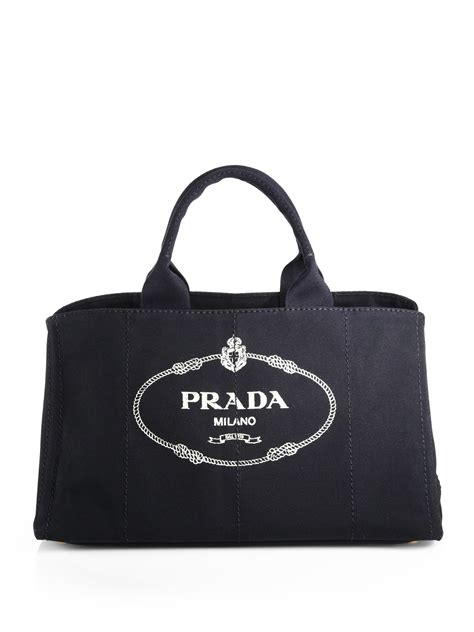 Big Printed Canvas Tote Bag Tas Kanvas Motif 1 lyst prada logo printed large canvas tote in black