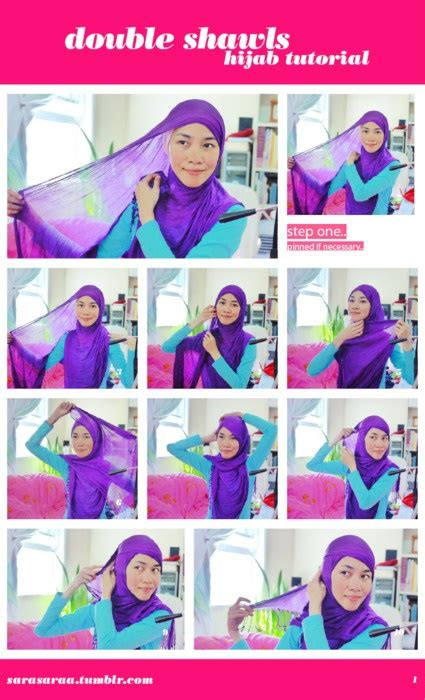 tutorial pashmina double 17 best images about how to wear hijab wrap on pinterest