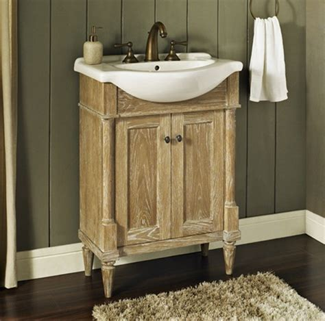 Weathered Bathroom Vanity Rustic Chic 26x17 Vanity Weathered Oak Fairmont Designs Fairmont Designs