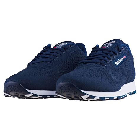 Reebok Classic Navy White reebok classic leather ultk cm9877 mens trainers in navy white