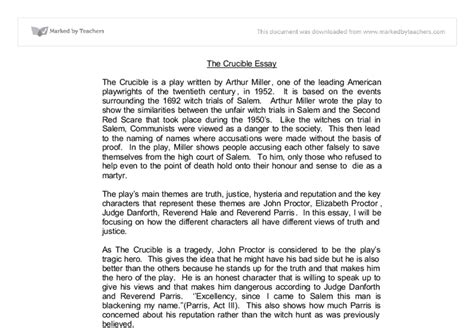 The Crucible Essays by Crucible Essay The Crucible Essays Essay On Gratitude Ayucar