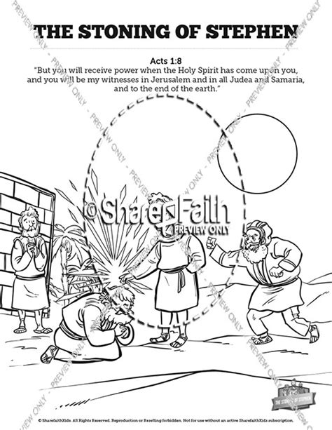 coloring pages bible stephen acts 7 the stoning of stephen sunday school coloring pages