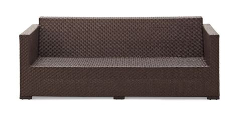 outdoor sofa with storage strathwood griffen all weather wicker 3 seater sofa dark brown