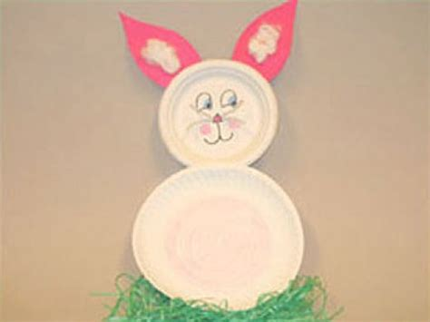 Easter Bunny Paper Plate Craft - family crafts and recipes easter bunny crafts