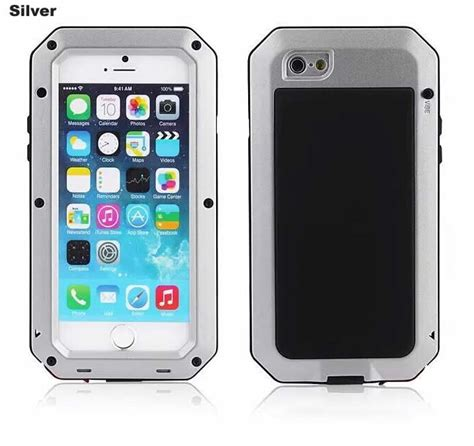 Remax Aluminum Protector Apple Iphone 6 6s Plus Silver aluminum alloy metal glass protection waterproof