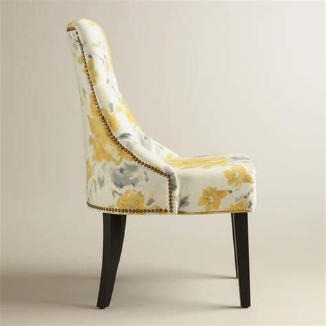 yellow and grey dining chairs yellow floral tufted lydia dining chairs set of 2